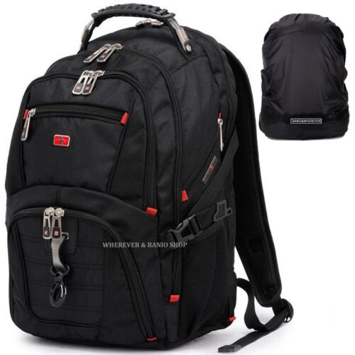 "Travel Gear Men 17/"" 15 Laptop Backpack Waterproof School Rucksack Outdoor Bag D1"