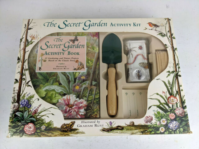 Secret Garden Activity Kit with Book and Accessories New