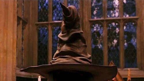 """Harry Potter Hogwarts Sorting Hat Pair Of Drop Earrings Silver 1"""" US Seller"""