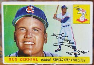1955-Topps-Baseball-Card-110-Gus-Zernial-Kansas-City-Athletics-VG