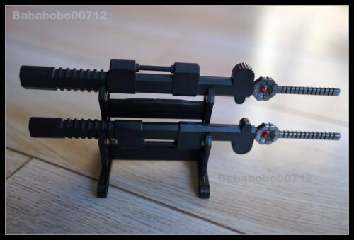 NEW Eness Metal swords scabbard stand sets forTransformers MMC Sixshot In Stock