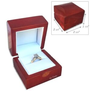 Details About Wooden Jewelry Gift Box For Ring Gift Box Engagement Ring Box Wedding Gift Box