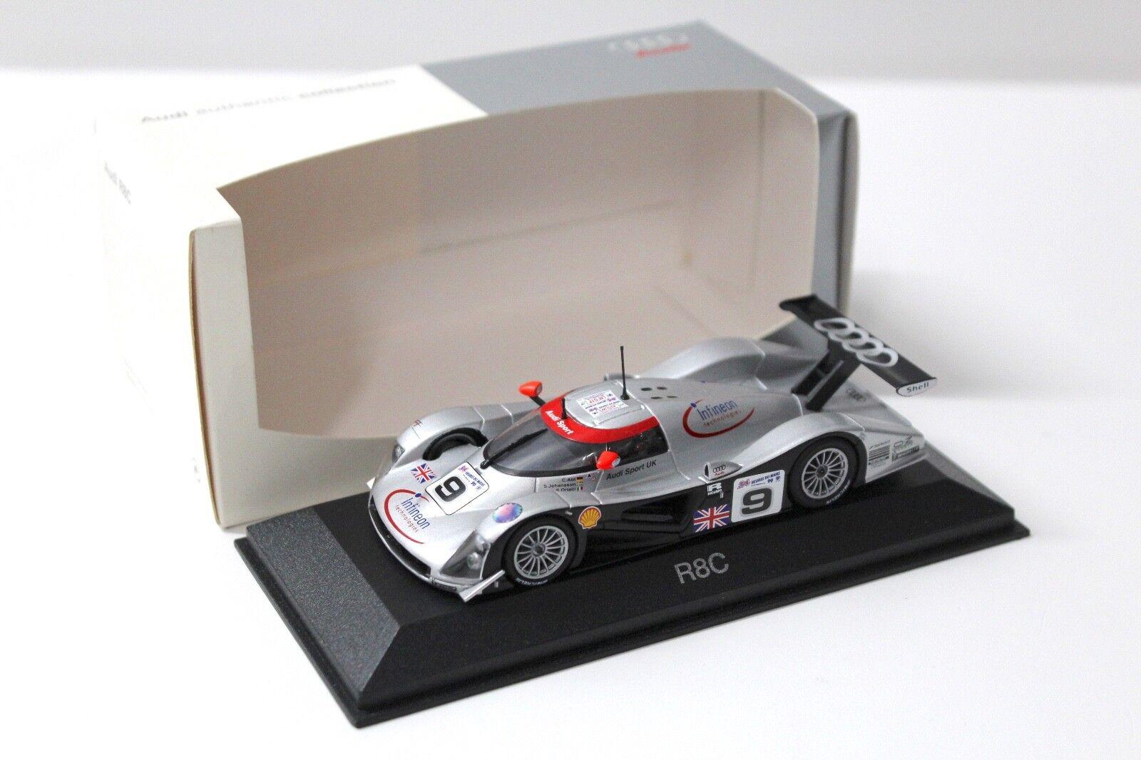 1 43 Minichamps Audi r8c Le Mans  9 Johansson Dealer New chez Premium-modelcars