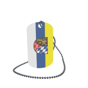 Dog Tag Flagge Fahne Oberpfalz Erkennungsmarke Alu 30 x 50 mm