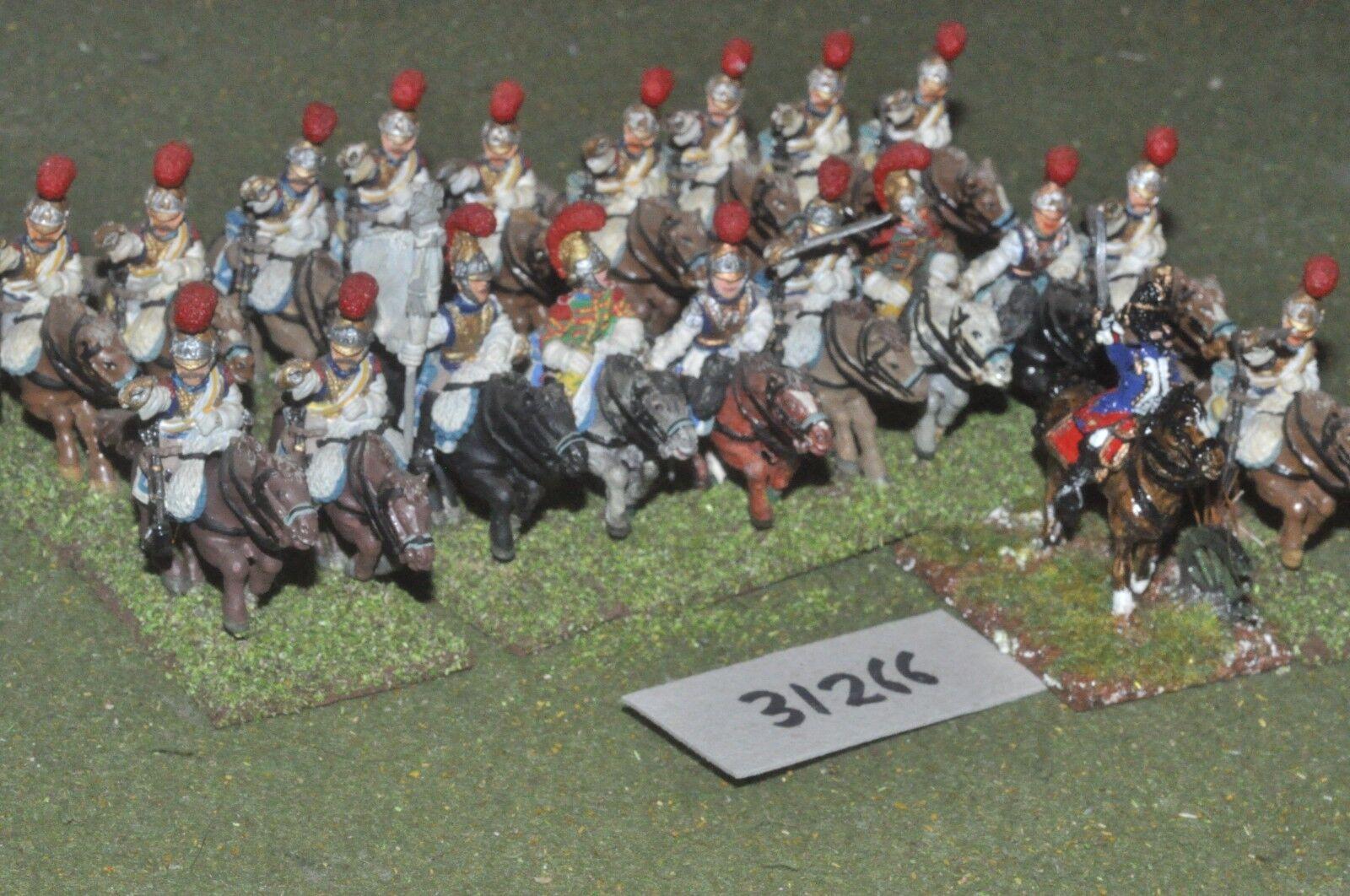 25mm napoleonic   french - carabiniers 20 figures - cav (31266)