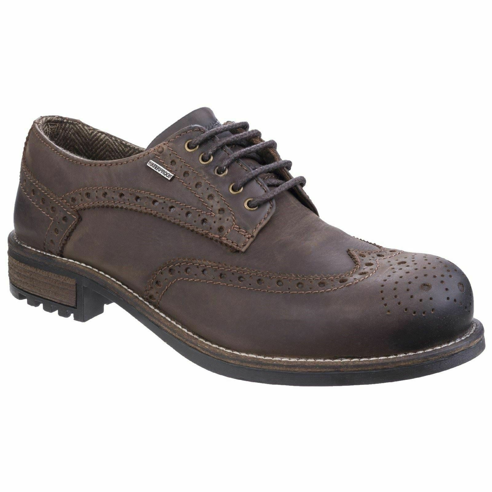Cotswold Lace Mens shoes Oxford shoes Brown Non Safety