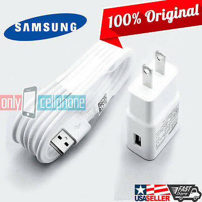 Original Samsung Wall Home Charger Rapid 2A 5FT Data Cable for Galaxy A F J Seri