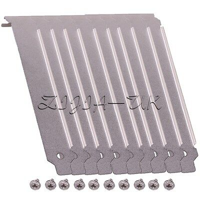10pcs PC Case Stainless Steel Slot PCI Cover Plate Floding Section With Screws