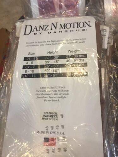 Danz N Motion Danshuz Children/'s Shimmery Footed Tights SUNTAN #502 Size 4-6