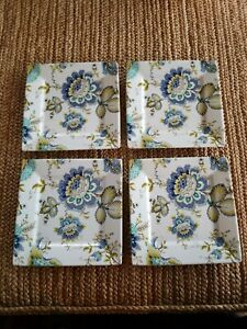 PORT-TOWNSAND-DALTON-BLUE-SALAD-PLATES-SET-OF-4-NEW-WITH-TAGS