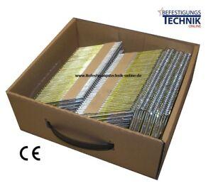 2200 Streifennägel 3,1x90 mm ring verzinkt 34° für Paslode Tjep Hitachi Nagler