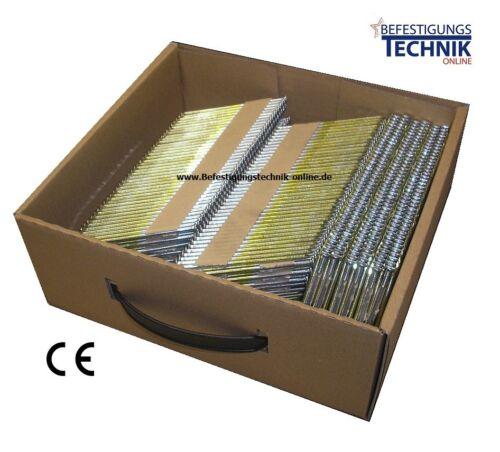 3000 Streifennägel 3,1x80 mm glatt blank 34° f Paslode Tjep Hitachi NR1890DBCL
