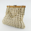 Vintage-Cream-Woven-Crochet-Handbag-Gift-for-Women thumbnail 1