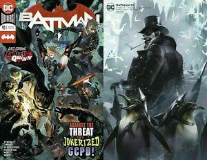 BATMAN-91-2020-1st-Print-Cover-A-B-SET-DC-Comics-James-Tynion-JOKER-WAR-NM