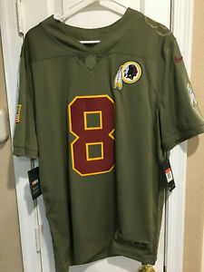 newest 6b322 8a6f4 Details about Kirk Cousins Washington Redskins Salute to Service Jersey #8  NlKE NWT MSRP $160