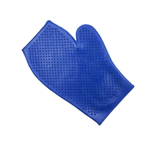 Spruced Up Rubber Mitt Small Horse Pony Equine Grooming