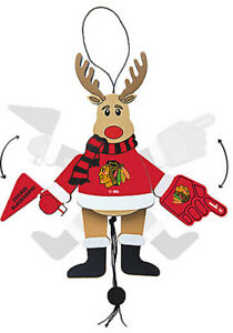 Chicago Blackhawks Christmas Ornament Wood Cheering ...