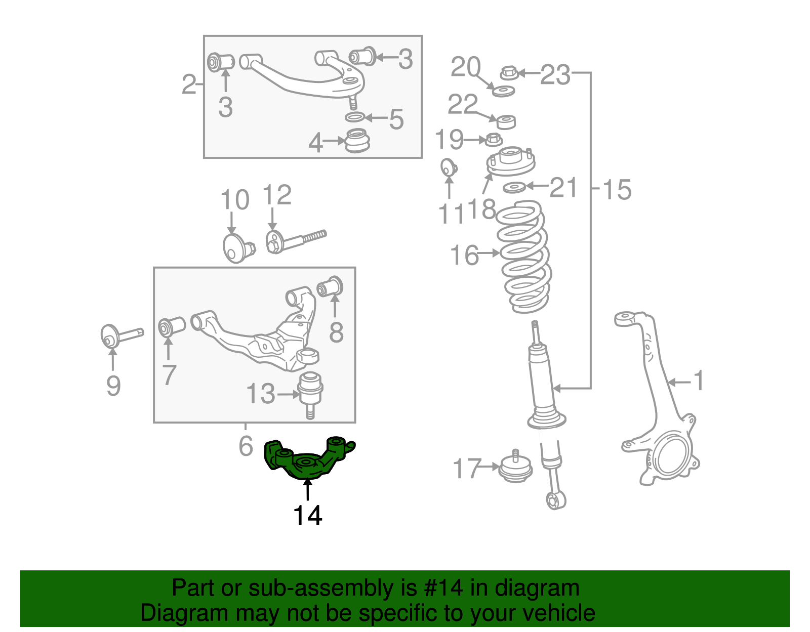 TOYOTA OEM 05-18 Tacoma Lower Control Arm-Front-Attachment Kit 4862504050