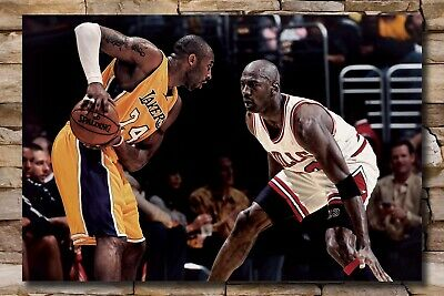 X734 New Kobe Bryant VS Michael Jordan Basketball MVP Fabric Poster 24x36 27x40 | eBay