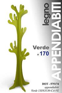 Albero Attaccapanni.Dettagli Su Albero Appendiabiti Attaccapanni In Legno Verde Chiaro H170 Cm 575174