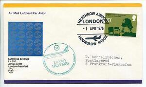Bien Informé Ffc 1976 Lufthansa Primo Volo Lh 037 Airbus A 300 - Londra Francoforte