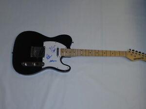 kansas signed black guitar kerry livgren hope williams. Black Bedroom Furniture Sets. Home Design Ideas
