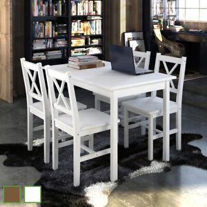 Table chaises Table et chaises de salle à manger cuisine Ensemble à dîner 5pcs