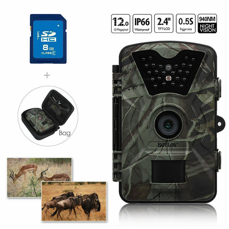 8GB 12MP Hunting  Camera Trail Scouting Wildlife Security+Portable Bag Waterproof  factory outlet online discount sale