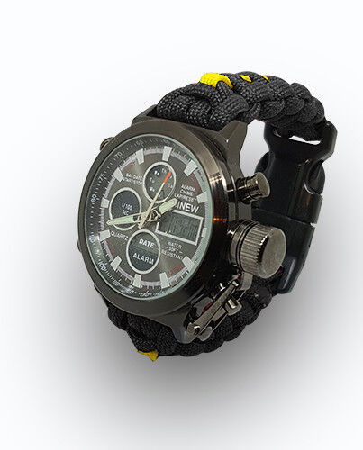 Paracord Watch with The Gloucester Regiment Colours For the Strap a Great Gift