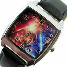 NEW STARWARS STAR WARS FORCE Steel BLACK LEATHER FILM SQUARE SCI FI MOVIE WATCH