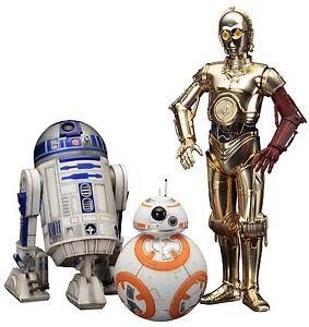 Star Wars: le réveil de la force C-3po Ensemble de statues à l'échelle 1:10 Artfx R2-d2 et Bb-8