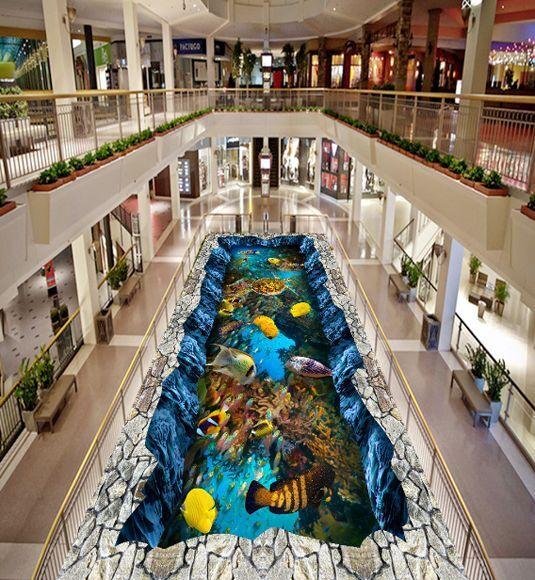 3D Fisch sea Wasser 077 Fototapeten Wandbild Fototapete Bild Tapete Familie