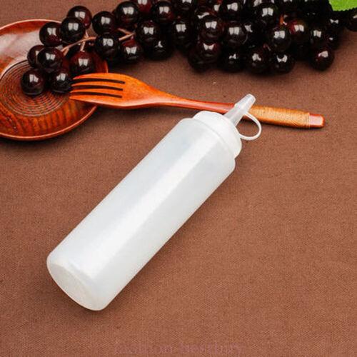 12-32oz Clear Plastic Squeeze Bottle Condiment Dispenser Ketchup Mustard Sauce
