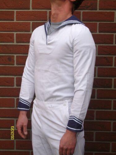 Original Marinehemd Matrosenhemd Gr Jacken Bootsport M weiss/blau Top