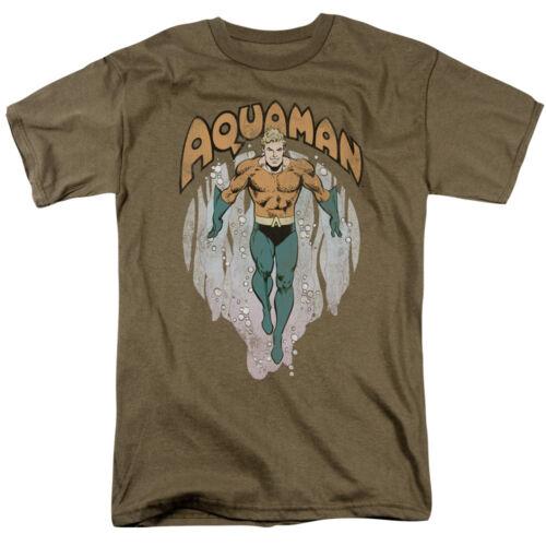 Aquaman dans les profondeurs Sous Licence Adulte T-Chemise Toutes Les Tailles