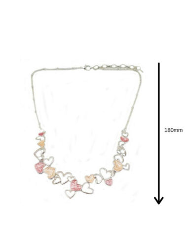 Womens Necklace Silver Gold Rose Gold Charm Pendant Chain Jewellery Gift New