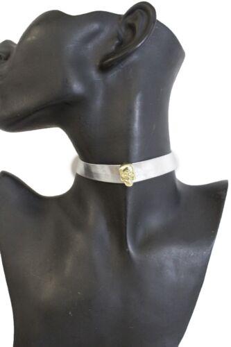 Hot Women Skinny Band Metallic Silver Choker Fashion Jewelry Necklace Gold Skull