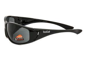 Bolle-Sunglasses-Highwood-Shiny-Black-Frame-TNS-Lens-12021-Authorized-Dealer