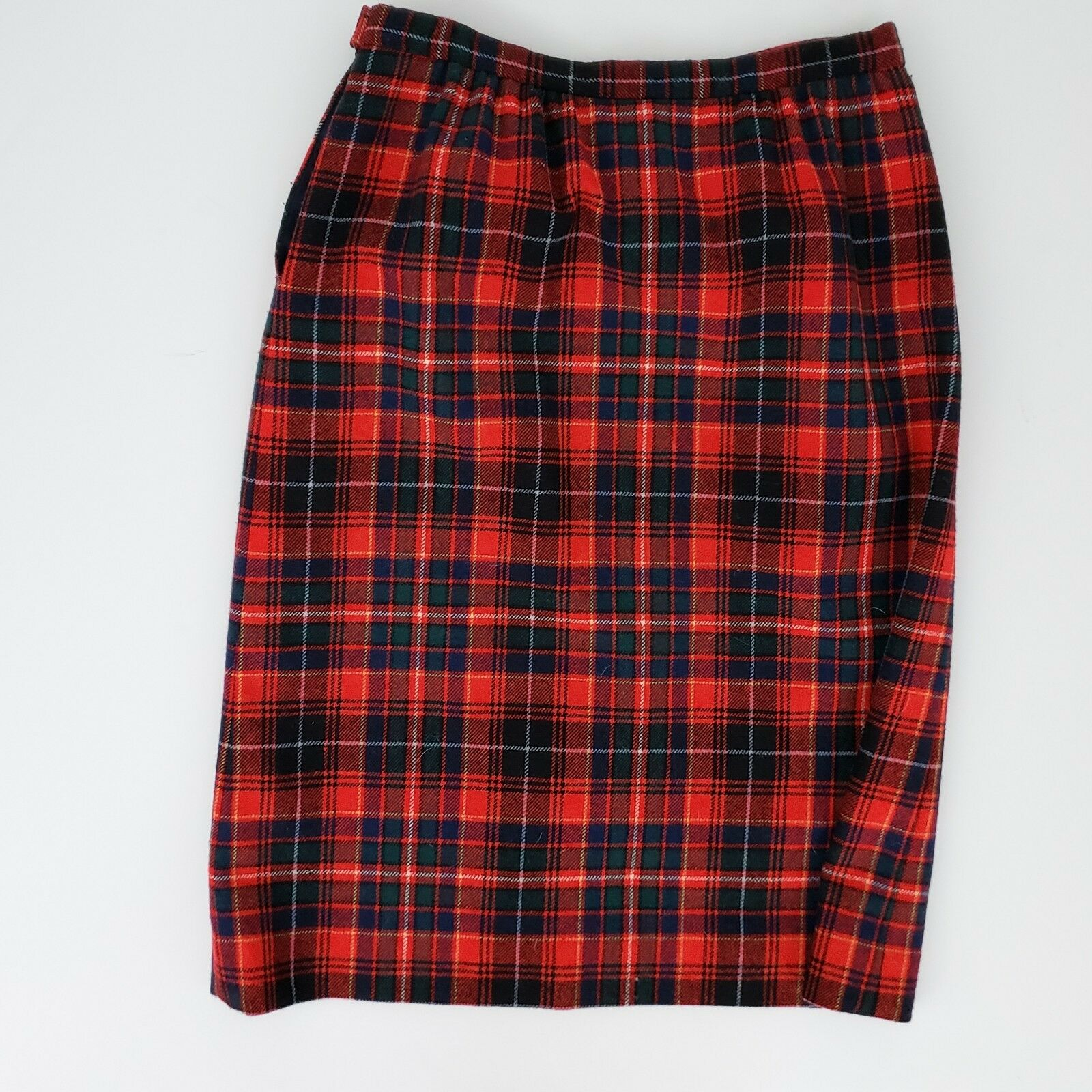 Vintage Pendelton Red, bluee & Green Pencil Skirt Authentic MacInnes Tartan Plaid