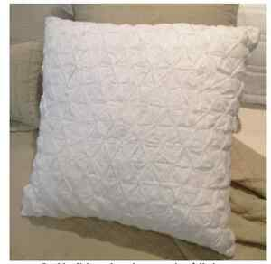 White Shabby Chic Pillow Cases : White Smocked Shabby Chic Provincial Cotton European Pillow Case eBay