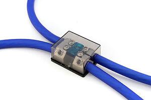 KnuKonceptz Bassik 2 Way 0 Gauge to 0 or 4 Gauge Mini ANL Fuse Block w Fuses