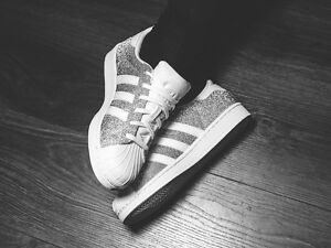 Image is loading ADIDAS-SUPERSTAR-WHITE-amp-SILVER-GLITTER-SPARKLE-LIMITED-