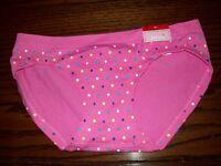 Jenni Nylon Spandex Hipster Panties Pink Multi Dot Xs