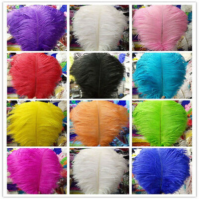 10-200 pcs high quality natural ostrich feathers 6-24 inch//15-60cm  Royal blue