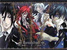 Poster A3 Kuroshitsuji Black Butler Sebastian Ciel Grell Ash 06