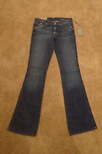 NWT 7 Seven For All Mankind A Pocket Flare Leg Contour Waist Blue Jeans 27 x 27