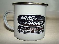 Land Rover Wagon Retro Enamel Mug Land Rover Enthusiast Classic Car Gift Idea