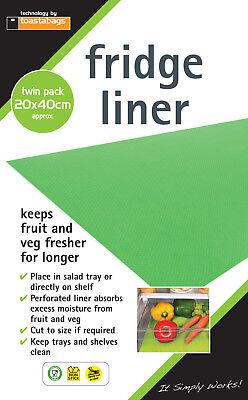 Toastabags Frigo Liner pack 4 nouveau garde des fruits et légumes plus propre plus longtemps