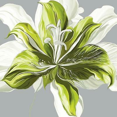 Sally Scaffardi: Spring Greens I Keilrahmen-Bild Leinwand Blumen grün modern