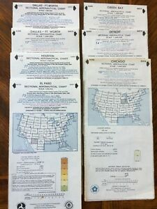 Aeronautical Sectional Charts -Green Bay, Chicago, Detroit ...